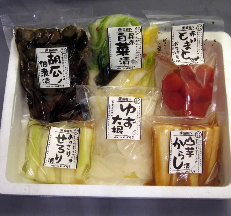 画像1: 【☆送料込ギフト☆】菜香やの漬物人気詰め合わせお試し6種 (1)