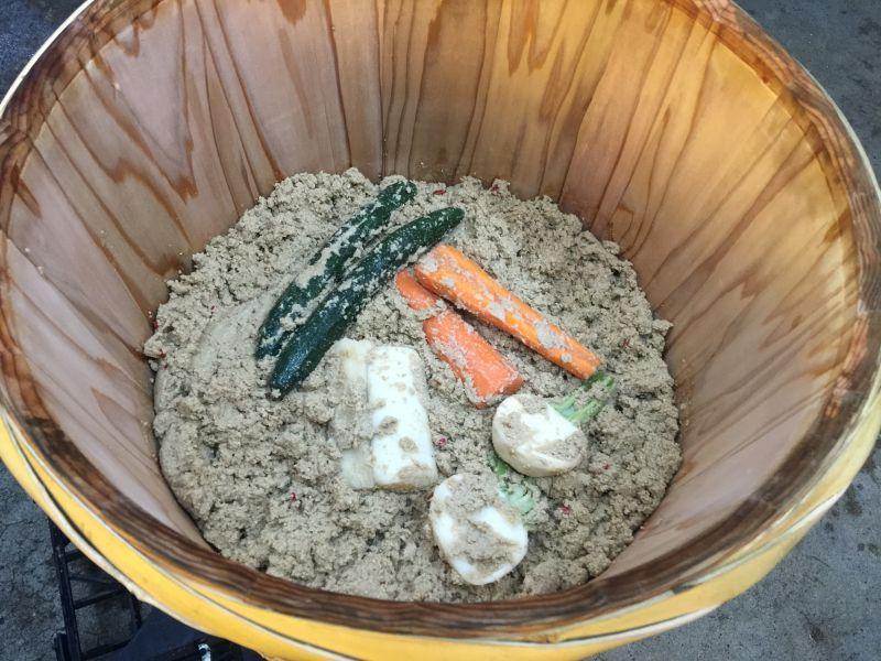 画像1: 菜香や■木樽熟成シリーズ■有機米ぬかで漬けた無添加熟成ぬか床漬け【胡瓜ぬか漬け】 (1)